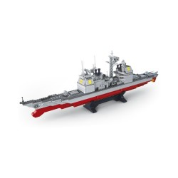 Sluban Naval Cruiser Ship Military Bricks B0388