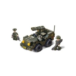 Sluban Army Double Barrelled Gun Vehicle Military Bricks B5700