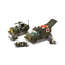 Sluban Army Ambulance and Jeep Military Bricks B6000