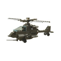 Sluban Army Apache Helicopter Military Bricks B6200