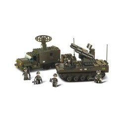 Sluban Army Radar & Rocket Launcher Set Military Bricks B6700