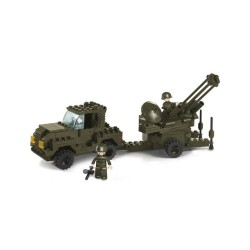 Sluban Army Anti Aircraft Gun Military Bricks B7300