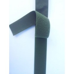 "100mm (4"") Wide Olive Green Hook and Loop 30cm"