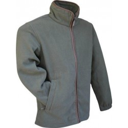 Jack Pyke Light Olive Fleece Jacket with Nubuck Trim