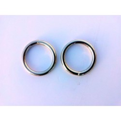 STAINLESS STEEL RING 25MM SET OF 2 REPLACEMENT  (GS020 SILVER)