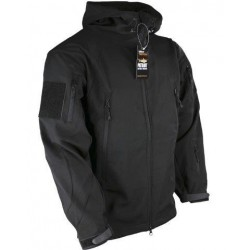 Kombat Patriot Softshell Jacket with Hood Black Forces, Military, Airsoft