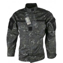 Kombat ACU Style Assault Shirt BTP Black Camo