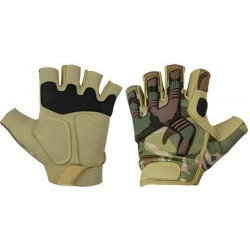 Highlander Raptor Fingerless Protective Combat Gloves Military HMTC GL088