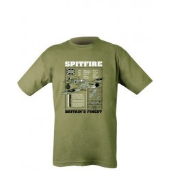 Kombat Spitfire plane T-Shirt Olive Soldier Forces Military Airsoft