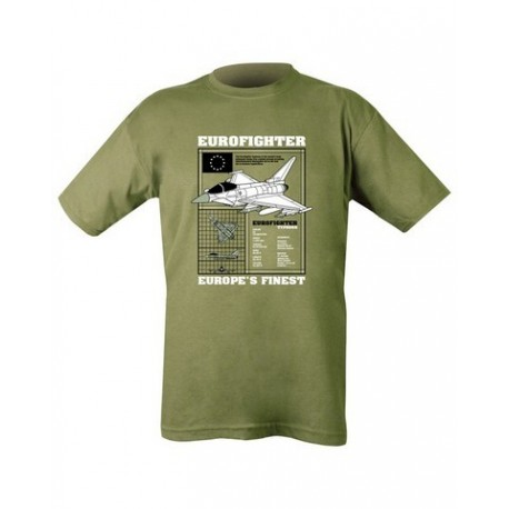 Kombat Eurofighter Typhoon plane T-Shirt Olive Soldier Forces Military Airsoft