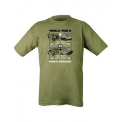 Kombat WWII Military Vehicles T-Shirt Olive Soldier Forces Military Airsoft