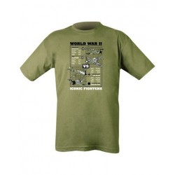 Kombat WWII Bomber Planes T-Shirt Olive Soldier Forces Military Airsoft
