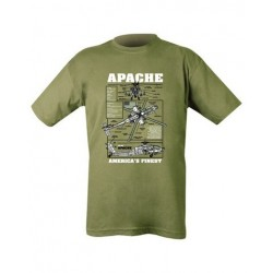 Kombat Apache Helicopter  T-Shirt Olive Soldier Forces Military Airsoft