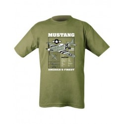 Kombat Mustang US Fighter  T-Shirt Olive Soldier Forces Military Airsoft