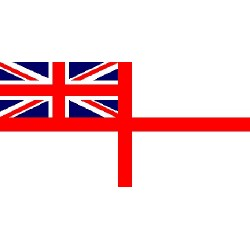 British Navy White Ensign Printed Polyester Flag 5'x3'