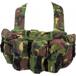 Highlander CHest Rig Pouch System Spanish Buckle DPM Chest Rig