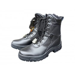 Highlander Pro-Force Task Force Boot Side Zip Black Leather