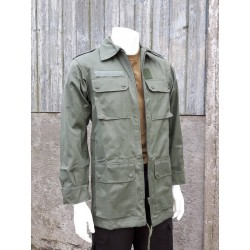 Genuine Surplus French Airforce Lightweight Green Canvas Jacket New