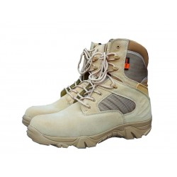 Highlander Echo Forces Tactical Desert Boot Tan Suede Cordura Panels Military