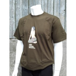 Forces Support Personnel T-Shirt Nose Art Commando Girl