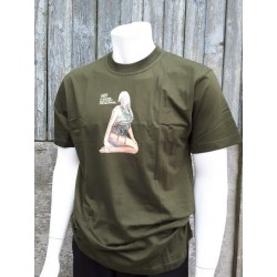 Forces Support Personnel T-Shirt Nose Art  Assault Girl