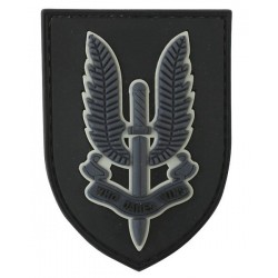 SAS Special Forces Tactical Patch Black Velcro Backed