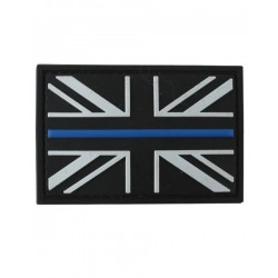 Thin Blue Line Tactical Patch Black Velcro Backed