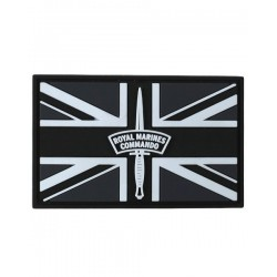 Royal Marines Commando Tactical Patch Black Velcro Backed