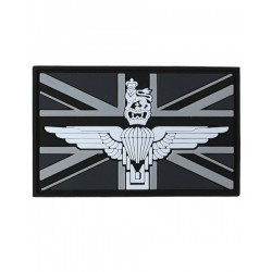 Parachute Regiment Tactical Patch Black Velcro Backed