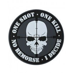 One Shot One Kill Tactical Patch Black Velcro Backed