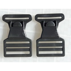 Suspender Clip Buckle Quick Release Centre Button For Bib n Brace Overtrousers, Dungarees, (FCB40)