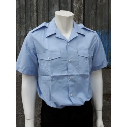 Genuine Surplus French Airforce Shirt New Sky Blue Open Neck