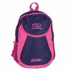 Highlander Dublin Rucksack Daysack 15 Litre School bag, Lunch Bag Purple / Pink