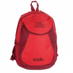 Highlander Dublin Rucksack Daysack 15 Litre School bag, Lunch Bag Tango Red / Rumba