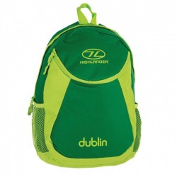 Highlander Dublin Rucksack Daysack 15 Litre School bag, Lunch Bag Green