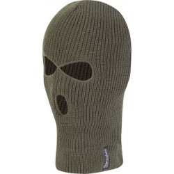 Jack Pyke 3 hole Thermal Knitted Balaclava Acrylic with Thinsulate Lining Green