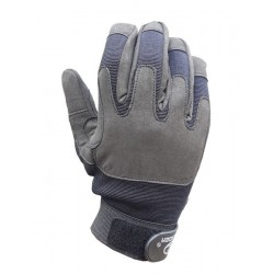 Highlander Lightweight Leather and Fabric Mission Glove Black