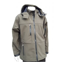 Jack Pyke Tactical Hooded Softshell Water Resistant Olive Green Hunting Military