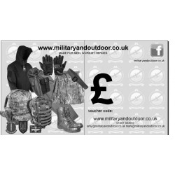 Military and Outdoor Gift Voucher Tactical Design