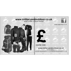 Military and Outdoor Gift Voucher Camping Design