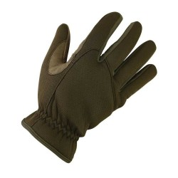 Kombat Delta Fast Gloves Tactical Neoprene & Suede Brown / Coyote