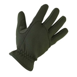 Kombat Delta Fast Gloves Tactical Neoprene & Suede Olive Green
