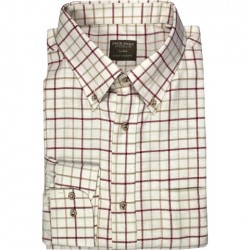 Jack Pyke Countryman Shirt Tattersall Check Polycotton Burgundy