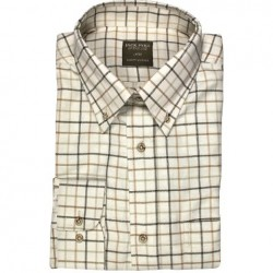 Jack Pyke Countryman Shirt Tattersall Check Polycotton Brown