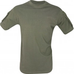 Viper Tactical T-Shirt Military Airsoft Cotton Pockets on Sleeve Olive