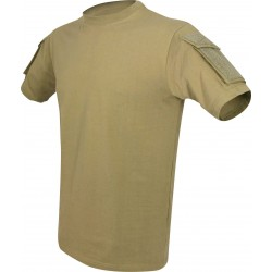 Viper Tactical T-Shirt Military Airsoft Cotton Pockets on Sleeve Coyote Tan