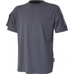 Viper Tactical T-Shirt Military Airsoft Cotton Pockets on Sleeve Titanium