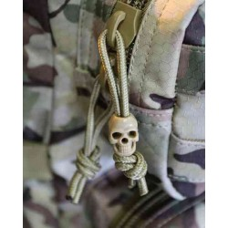 Pack10 Skull Cord Locks Stoppers Toggle Tactical Military Airsoft EMO Punk Black