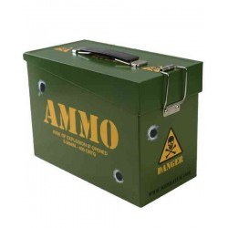 ARMY MILITARY STYLE AMMO BOX TIN LUNCHBOX STORAGE BOX FORCES LUNCH BOX