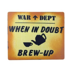 NEW When in Doubt Brewup Wooden Vintage Style Sign Wood Kids Bedroom Signage Den